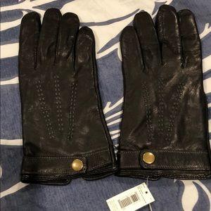 BR Black Leather Gloves